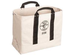 """KLEIN TOOLS 5156 Tool Tote, #6 Canvas, 1 Pockets, Beige, 15"""" Height"""