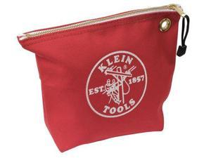 "KLEIN TOOLS 5539RED Tool Bag, #8 Canvas, 1 Pockets, Red, 8"" Height"