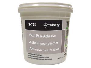 ARMSTRONG FP00725408 Wall Base Adhesive, 1 gal, Pail, Off White, Rubber Resin