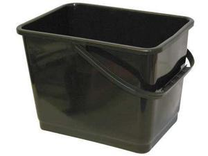 MALLORY 864 Black MALLORY Black Squeegee Bucket, Depth: 8 3/4 in