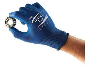 ANSELL 11-818 Hyflex Coated Gloves, FORTIX(TM) Nitrile, Blue, PR, Size: 6