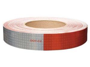 """Oralite Reflective Tape, 10 yr 11"""" Red/7"""" White  Polyester  18690"""