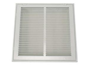 ZORO SELECT 4MJT2 Filtered Return Air Grille , 14 X 14 , White , Steel