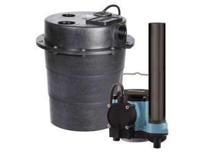 LITTLE GIANT WRS-6 Sink Pump System,1/3 HP,115V,9A,CI