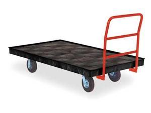RUBBERMAID FG9T1100BLA Fifth-Wheel-Steer Trailers,73-3/8 In. L