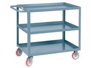 "ZORO SELECT 9CM21 12 ga. Steel Utility Cart 1200 lb. Capacity, 42""L x 24""W"