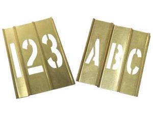 ZORO SELECT 20Y522 Stencil Kit 46 Piece 4 in Brass