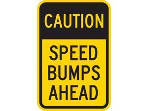 LYLE T1-1028-HI_12x18 Sign,Caution Speed Bumps Ahead,18 x12 In