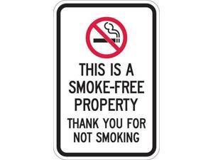 LYLE T1-1079-HI_12x18 Property Sign, Smoke-Free,18 x 12 In