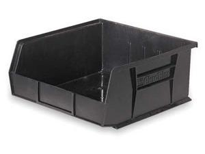 "AKRO-MILS 30250BLACK Black Hang and Stack Bin, 14-3/4""L x 16-1/2""W x 7""H"