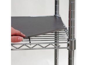 """ZORO SELECT 5GRJ2 Shelf Liner 24""""x18"""", Black, 4PK"""