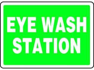 Eye Wash Sign,7 x 10In,WHT/GRN,ENG ACCUFORM MFSD987VP