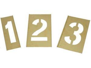 ZORO SELECT 2CEC3 Number Stencils,Numbers,Brass