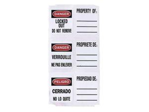 MASTER LOCK 0410-5701 Write On Padlock Label,PK49