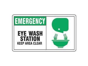 Eye Wash Sign,7 x 10In,GRN and BK/WHT ACCUFORM MFSD928VP