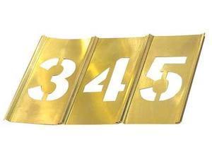 C.H. HANSON 10016 Stencil Set,Numbers,Brass