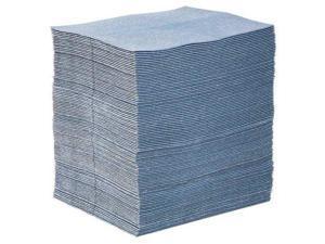 PIG BLU100 Absorbent Mat Pad, Absorbs 24 gal. Universal, PK 100 ,Light Blue