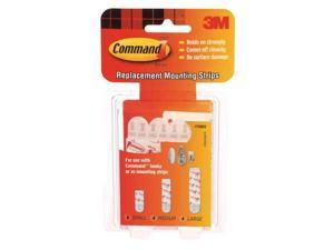 Assorted Replacement Strip,Foam,PK16 COMMAND 17200CL