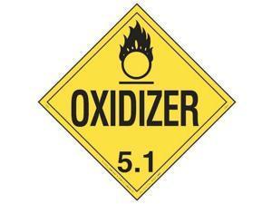 LABELMASTER 19UA43 Placard,10-3/4inx10-3/4in,Oxidizer