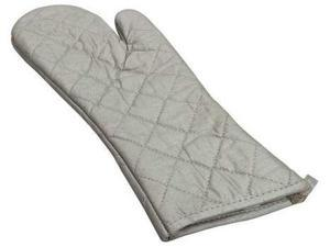 R & R TEXTILE 01301 Oven Mitt,Hand Shaped,Silver,13in