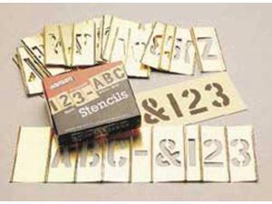 C.H. HANSON 10074 Interlocking Stncls,Numb & Letters,Brass