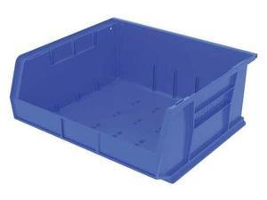 "AKRO-MILS 30250BLUE 7""L x 16-1/2""W x 14-3/4""H Blue Hang and Stack Bin"