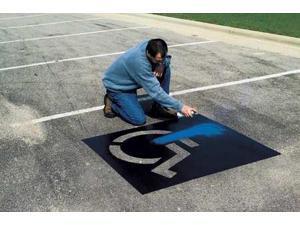 C.H. HANSON 12460 Parking Lot Stencil Kit,Plastic