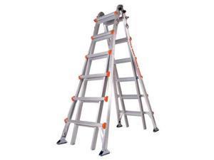 """LITTLE GIANT 10126AS Multipurpose Ladder,6 ft. 7"""",IA,Aluminum"""