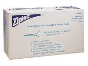 "ZIPLOC 682254 Double Zipper Seal Reclosable Bag 15"" x 13"", 2.6 mil, Clear, Pk100"