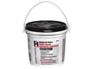 HERCULES 35515 Furnace/Stove Cement,High Temp.,1/2 gal.