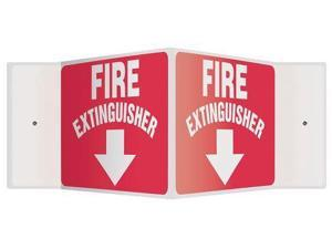 ACCUFORM SIGNS PSP364 Sign, Fire Extinguisher, 8x18 In.