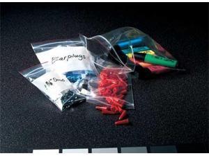 "MINIGRIP RED LINE MGRL2W0304 Reclosable Poly Bag Zipper Seal 4"" x 3"", 2 mil,"