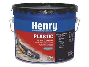 HENRY HE204061 Plastic Roof Cement, 3.5 gal, Pail, Black