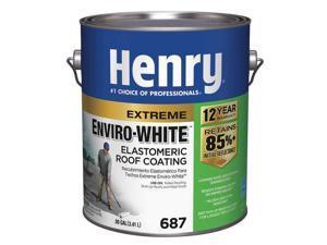 HENRY HE687046 Elastomeric Roof Coating, 1 gal, Pail, White