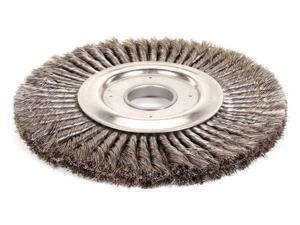 """Weiler 12"""" Twisted Wire Wheel Brush, Arbor Hole Mounting, 0.016"""" Wire Dia., 1 EA"""
