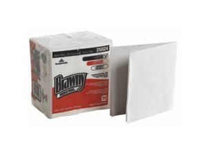 GEORGIA-PACIFIC 25024 Dry Wipe, White, 1/4 Fold Poly Wrapped, Hydro-entangled