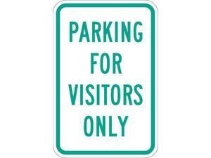 "LYLE T1-1038-HI_12x18 Visitor Parking Sign, 12"" W, 18"" H, English, Aluminum,"