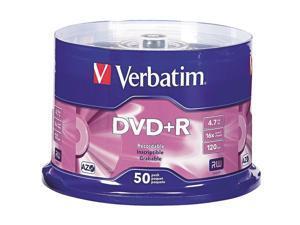 Verbatim Life Series 4.7GB 16X DVD+R 50 Packs Media Model 97174