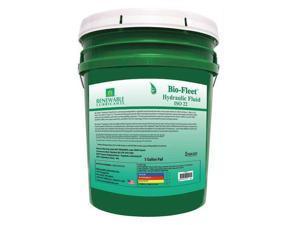 RENEWABLE LUBRICANTS 80814 5 gal. Bio-Fleet Hydraulic Fluid Pail 22 ISO