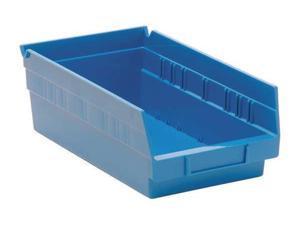 """QUANTUM STORAGE SYSTEMS QSB102BL Blue Shelf Bin, 11-5/8""""L x 6-5/8""""W x 4""""H"""