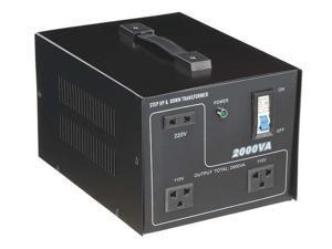 ZORO SELECT 30C522 Step Up/Down Voltage Converter,50/60 Hz