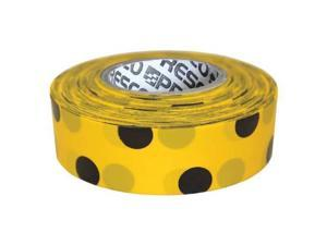 PRESCO PRODUCTS CO PDYBK-200 Flagging Tape,Yllw/Blk,300 ft x 1-3/8 In