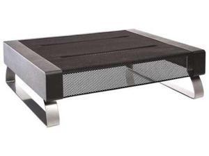 ROLODEX 1735708 Metal Monitor Stand, 35 lb. Capacity, Black/Silver