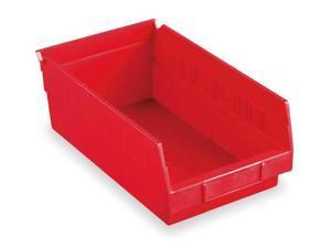 "AKRO-MILS 30150RED Red Shelf Bin, 11-5/8""L x 8-3/8""W x 4""H"