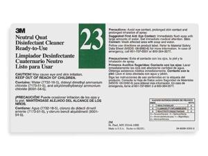 TOLCO 340423 Secondary Label,Black, Green/White,PK12