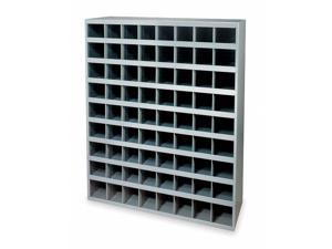 DURHAM MFG 363-95 Pigeonhole Bin Unit, 72 Bins, 33-3/4 x 12 x 42 In.