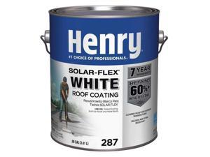 HENRY HE287SF046 Protective Roof Coating, 1 gal, Pail, White
