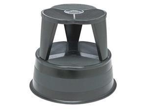 "Cramer Kik-Step Steel Step Stool 350 lb cap 16"" dia. x 14 1/4h Black 100192"