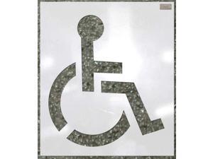C.H. HANSON 70342 Stencil,Handicap,34 x 34 In.