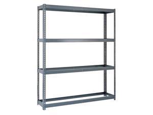 """EDSAL RL4214 Boltless Shelving Unit, 17""""D x 42""""W x 84""""H, 4 Shelves, Steel"""